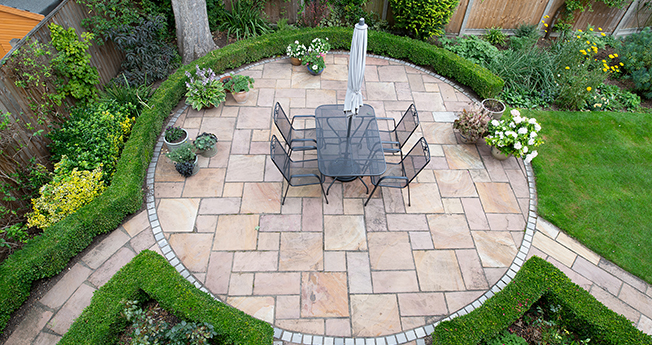 Picture of a paved terrace
